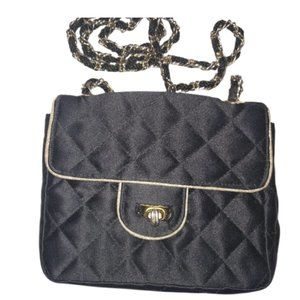Black Quilted Crossbody Purse/Bag 5/25